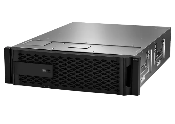 Lenovo ThinkSystem DM7000H Hybrid Flash Array - front facing left